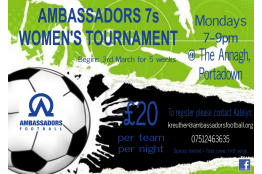 Women's 7-a-side Tournament in Portadown next Spring