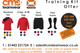 CMS Teamwear Training Kit Offer