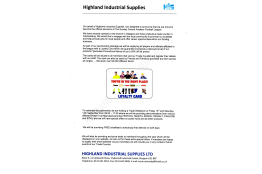 New Sponsorship Deal - Highland Industrial Supplies
