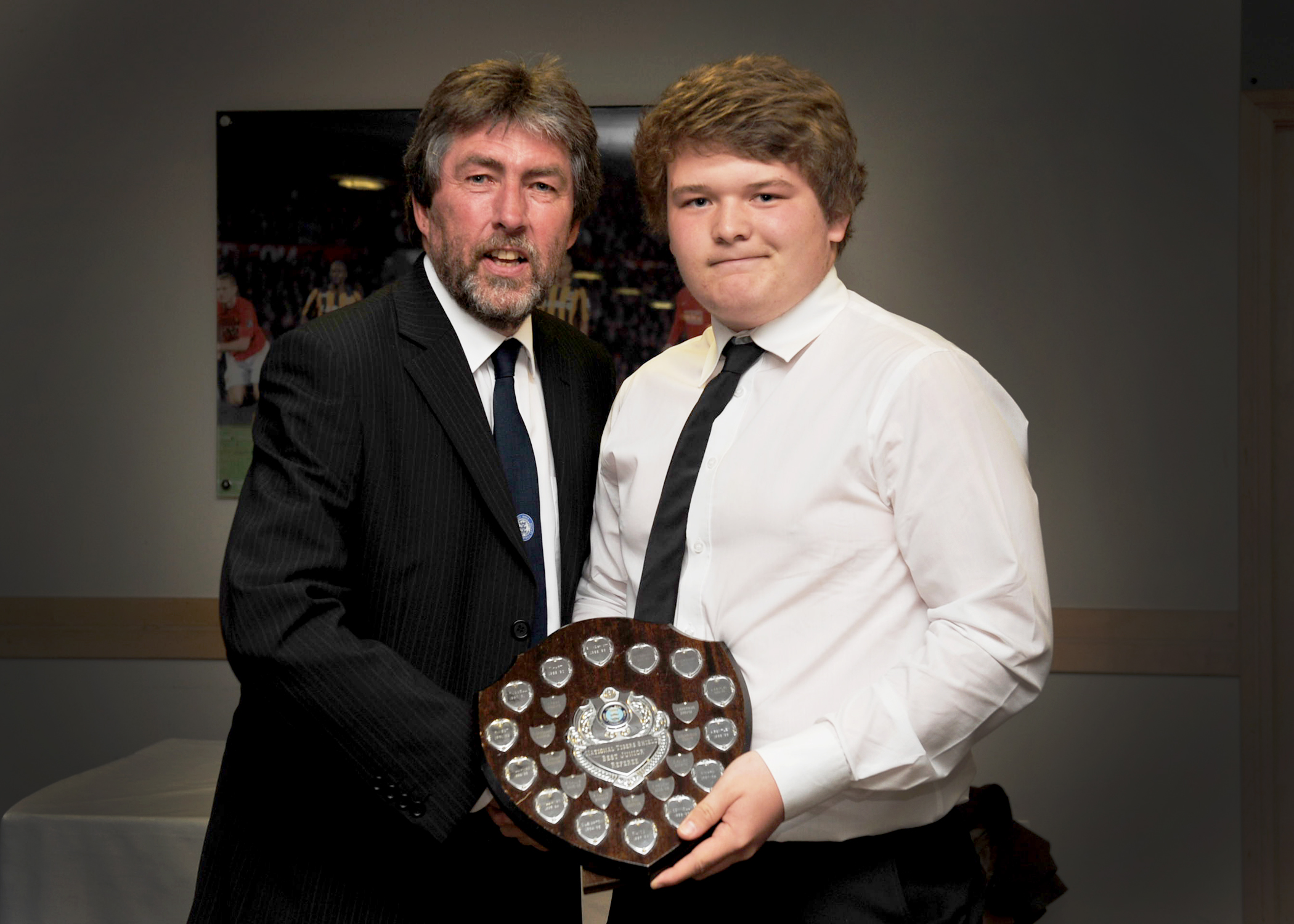 James Hastings receives the Young Referee of the Year Award 