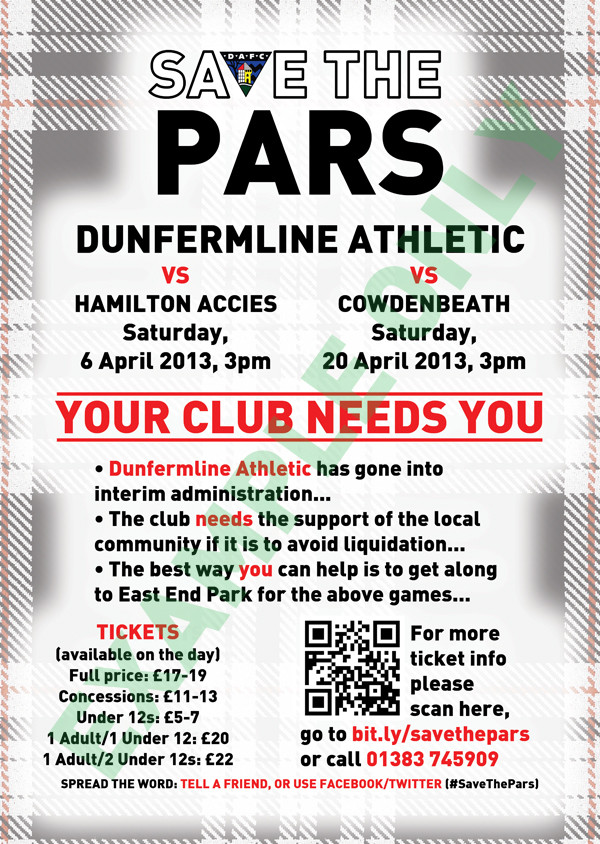 Get along to EAST END and help save the PARS.